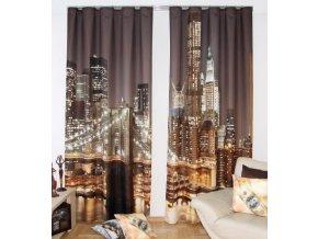 3D dekorační závěs 01 CITY LIGHT 160x250 cm MyBestHome