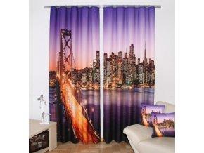 3D dekorační závěs 12 NEW YORK 160x250 cm MyBestHome