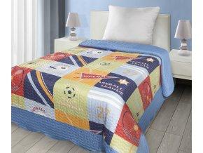 Přehoz na postel SPORTS 170x210 cm modrá Mybesthome