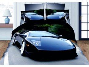 Povlečení 3D BLUE CAR set 3 ks, francouzské povlečení, 1x 200x220 cm, 2x 70x80 cm MyBestHome