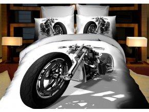 Povlečení 3D MOTORKA 01 set 4 ks, francouzské povlečení, 1x 200x220 cm, 2x 70x80 cm, prostěradlo 200x225 cm MyBestHome