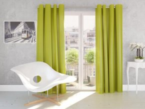 Dekorační závěs SILK zelená 140x245 cm MyBestHome