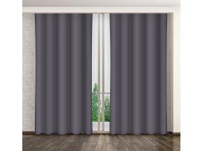 Dekorační závěs 10 tmavě šedá 160x250 cm MyBestHome