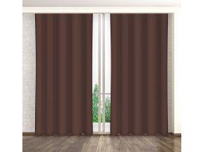 Dekorační závěs 04 čokoládová 160x250 cm MyBestHome