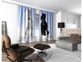 3D dekorační závěs 102V HORSES 160x250 cm set 2 kusy MyBestHome