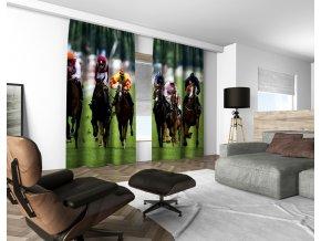 3D dekorační závěs 104V JOCKEYS 160x250 cm set 2 kusy MyBestHome