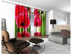 3D dekorační závěs 107V RED ORCHIDS 160x250 cm set 2 kusy MyBestHome