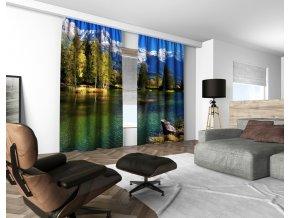 3D dekorační závěs 108V MOUNTAIN LAKE 160x250 cm set 2 kusy MyBestHome