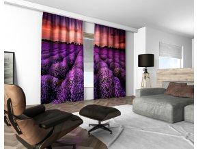 3D dekorační závěs 110V LAVANDER FIELD 160x250 cm set 2 kusy MyBestHome