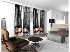 3D dekorační závěs 121V NY TAXI 160x250 cm set 2 kusy MyBestHome