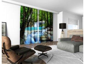 3D dekorační závěs 123V WATERFALLS 160x250 cm set 2 kusy MyBestHome