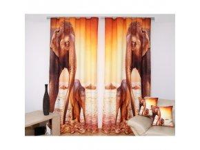 3D dekorační závěs 72 ELEPHANTS 160x250 cm MyBestHome