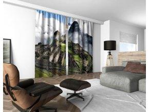 3D dekorační závěs 131V MACHU PICCHU 160x250 cm set 2 kusy MyBestHome
