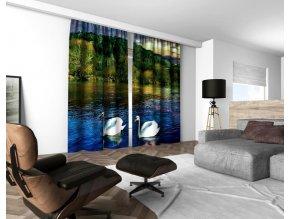3D dekorační závěs 210V SWANS 160x250 cm set 2 kusy MyBestHome
