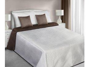 Přehoz na postel CHIK 220x240 cm krémová/hnědá Mybesthome