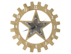 Nástěnné hodiny TEXAS průměr 30 cm Mybesthome