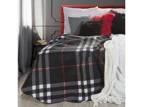 Přehoz na postel FONET 220x240 cm černá Mybesthome