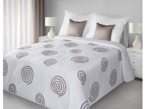 Přehoz na postel HUBERT 220x240 cm bílá/béžová Mybesthome
