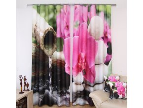 3D dekorační závěs 22 PINK ORCHID 160x250 cm MyBestHome