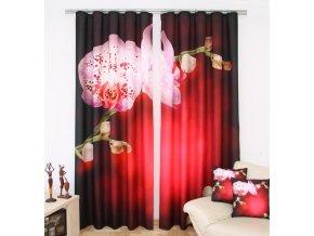 3D dekorační závěs 15 ORCHIDS IN RED 160x250 cm MyBestHome