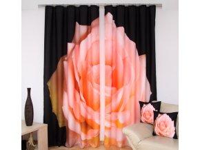 3D dekorační závěs 64 OLD ROSE 160x250 cm MyBestHome