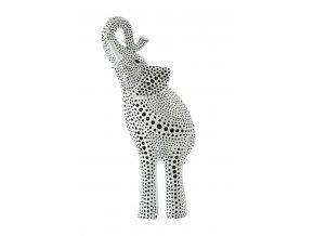 ELEPHANT LUCKY dekorativní soška SLON bílý 17x8x24 cm Mybesthome