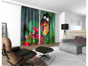 3D dekorační závěs 303V BUTTERFLY 160x250 cm set 2 kusy MyBestHome