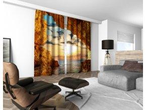 3D dekorační závěs 305V SUNSET 160x250 cm set 2 kusy MyBestHome