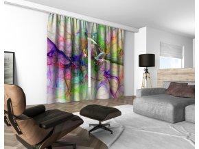 3D dekorační závěs 306V ABSTRAKT 160x250 cm set 2 kusy MyBestHome