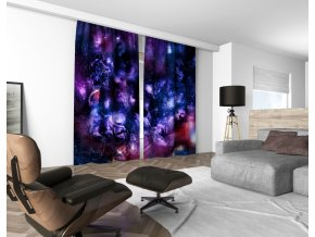 3D dekorační závěs 307V NEBULA 01 160x250 cm set 2 kusy MyBestHome