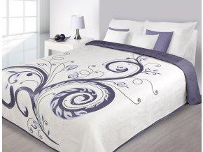 Přehoz na postel MAURUS 220x240 cm krémová/fialová Mybesthome