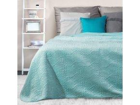 Přehoz na postel AGNES 220x240 cm modrá Mybesthome