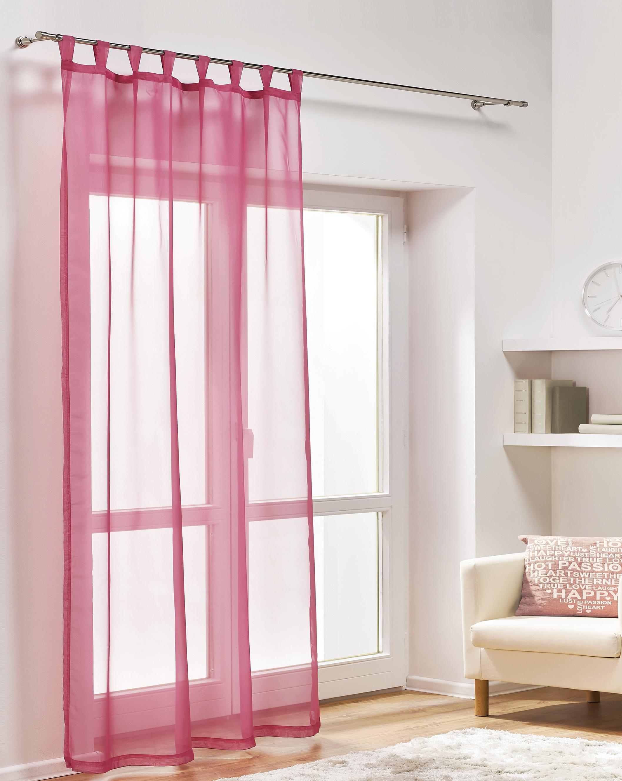 Dekorační záclona DIANA tmavě růžová 140x245 cm MyBestHome