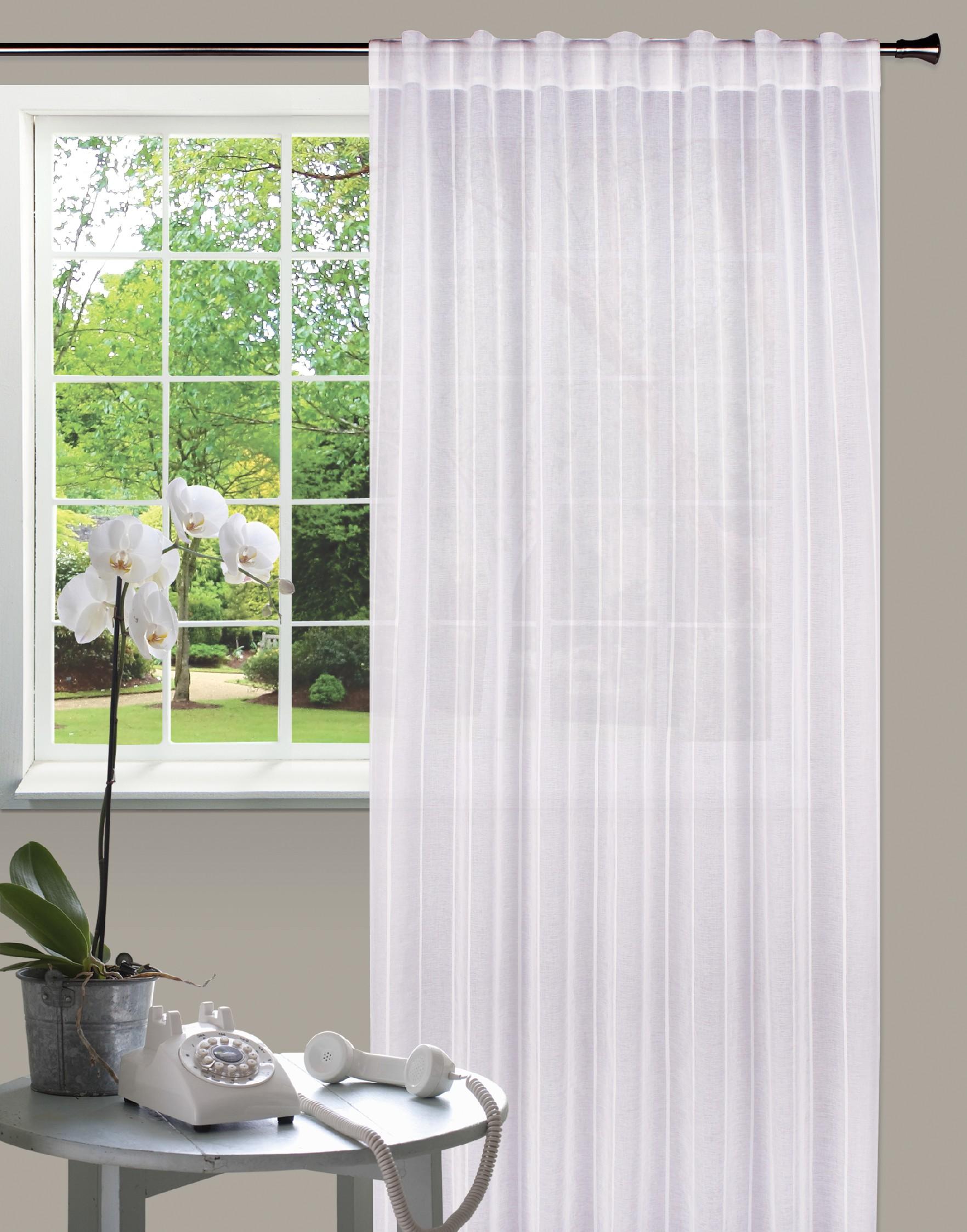 Dekorační záclona ANDY bílá 140x245 cm MyBestHome