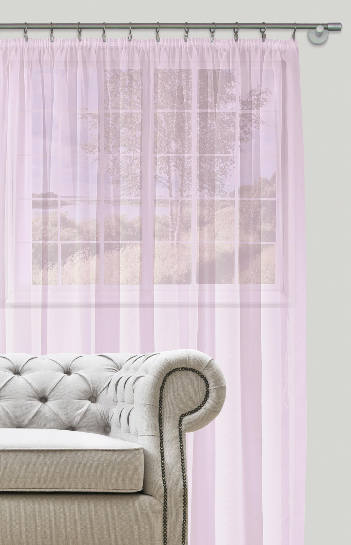 Dekorační záclona s řasící páskou DIANA fialová 400x260 cm MyBestHome