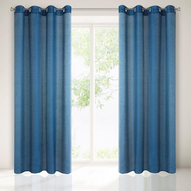 Dekorační záclona EMMA tmavě modrá s kroužky 140x250 cm MyBestHome