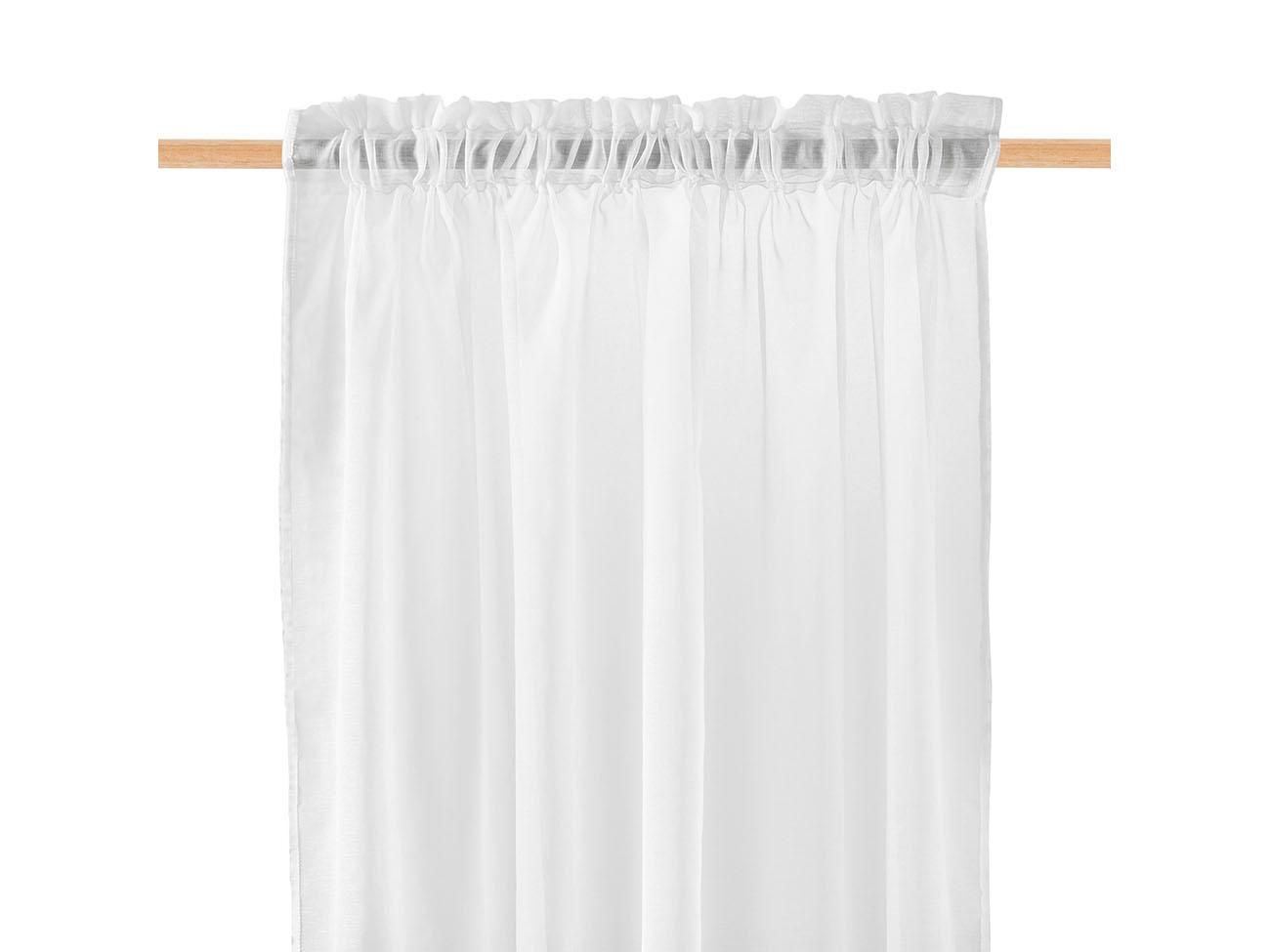 Dekorační záclona SOLEDA bílá s řasící páskou 140x250 cm MyBestHome