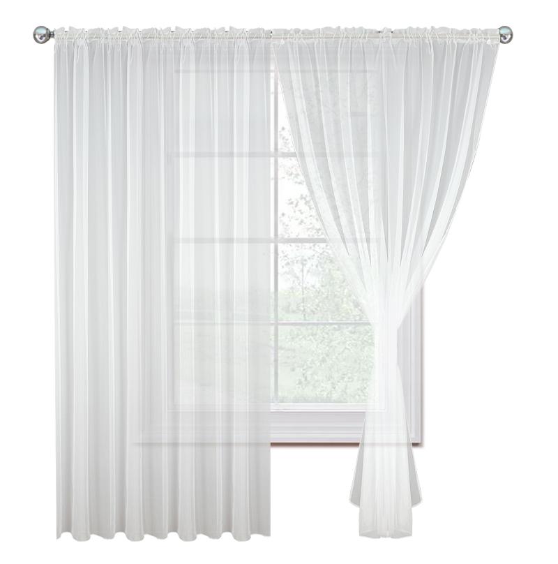 Dekorační voálová záclona JULIA bílá 200x250 cm MyBestHome (cena za 1 kus)