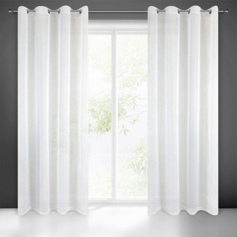 Dekorační záclona DIANA EU bílá s kroužky 140x250 cm (cena za 1 kus) MyBestHome
