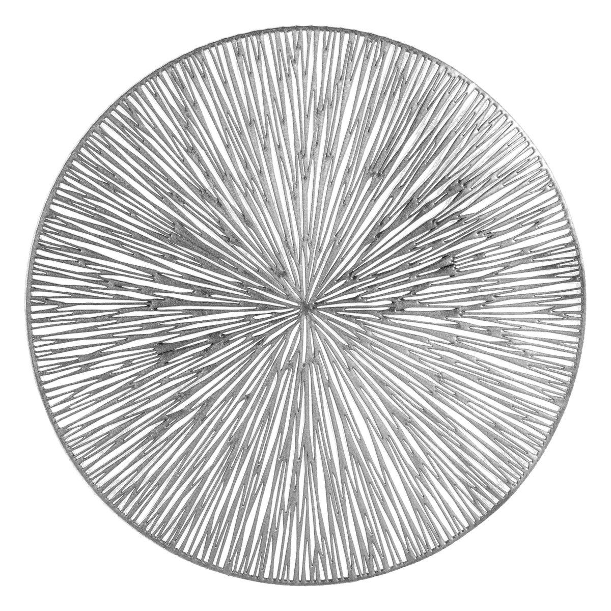 Prostírání MODERNO stříbrná Ø 38 cm Mybesthome