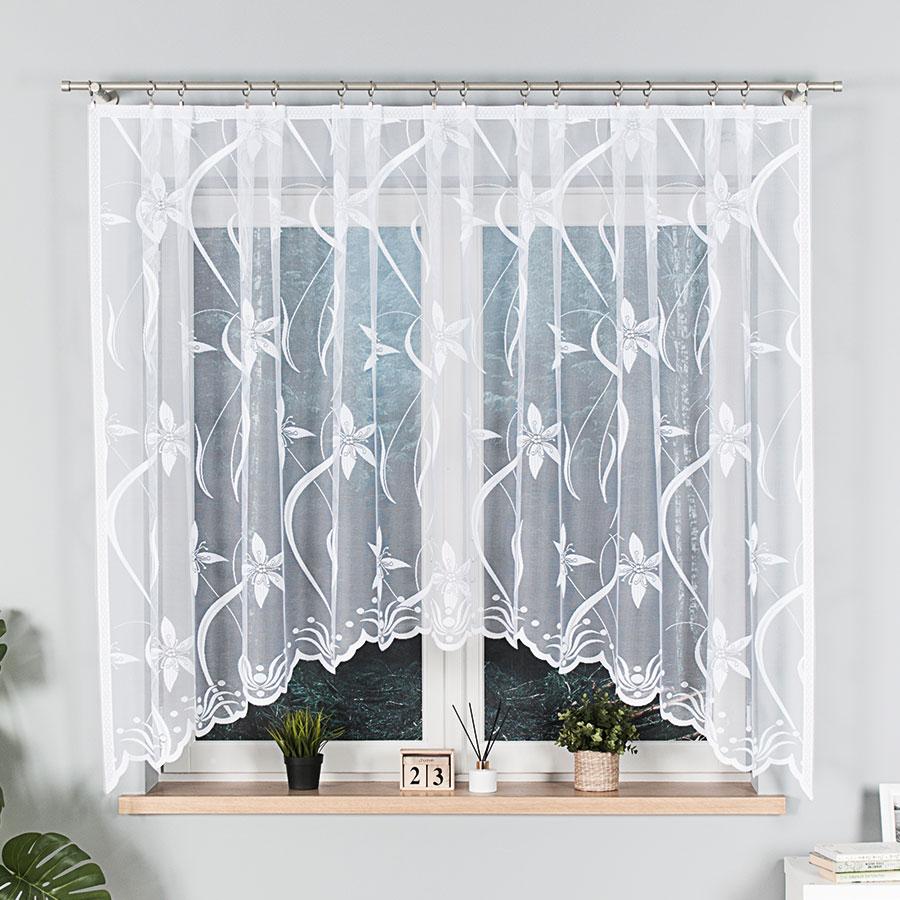 Dekorační oblouková krátká záclona JOLA bílá 330x160 cm MyBestHome