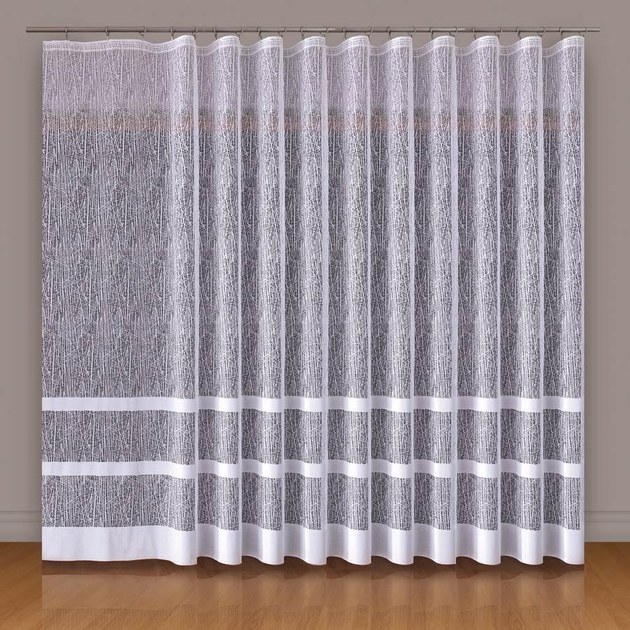 Dekorační vzorovaná záclona WIKTORIA 200 (1 kus) bílá 200x250 cm MyBestHome