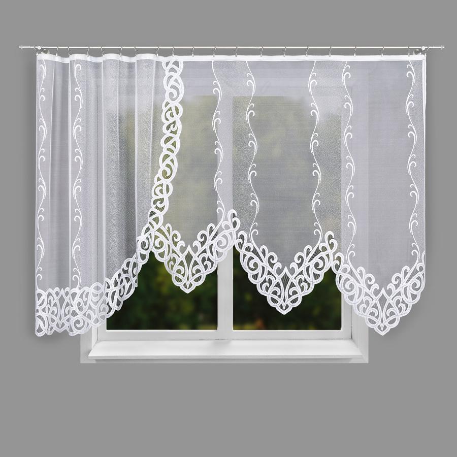 Dekorační oblouková krátká záclona HERMINA 150 bílá 400x150 cm MyBestHome
