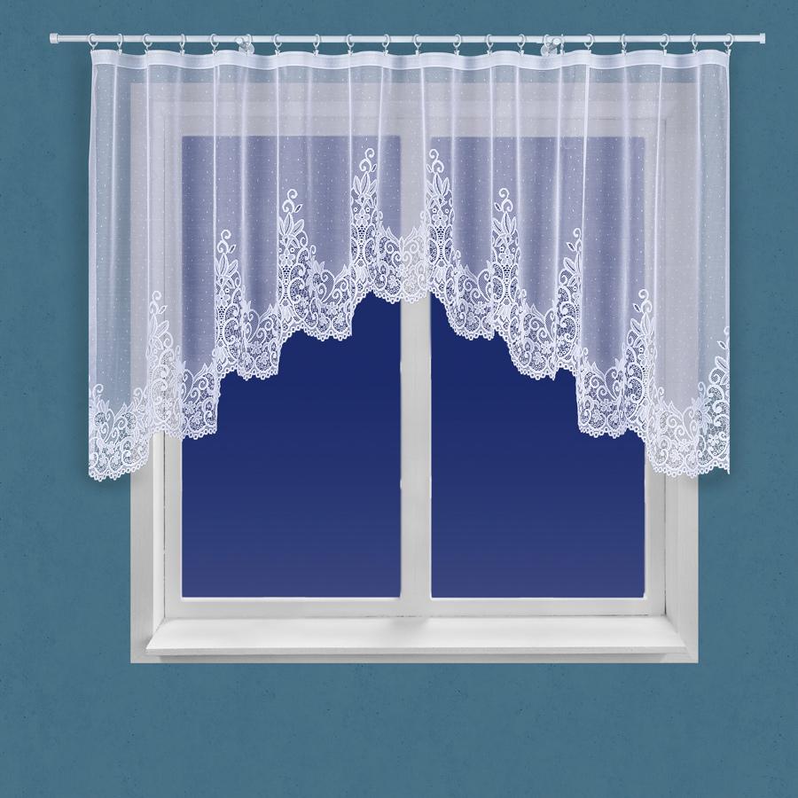 Dekorační oblouková krátká záclona BERENIKA 130 bílá 330x130 cm MyBestHome