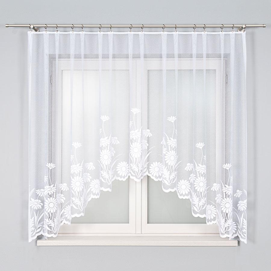 Dekorační oblouková krátká záclona ARALIA 160 bílá 300x160 cm MyBestHome