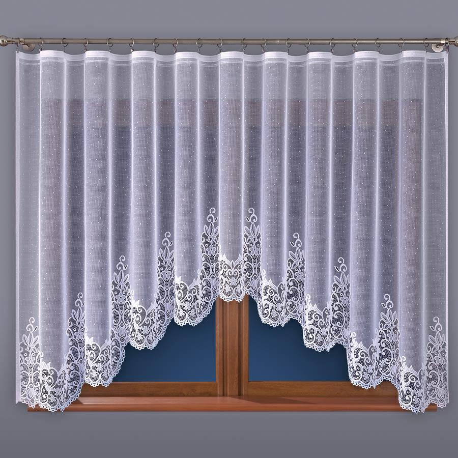 Dekorační oblouková krátká záclona BERENIKA 160 bílá 400x160 cm MyBestHome