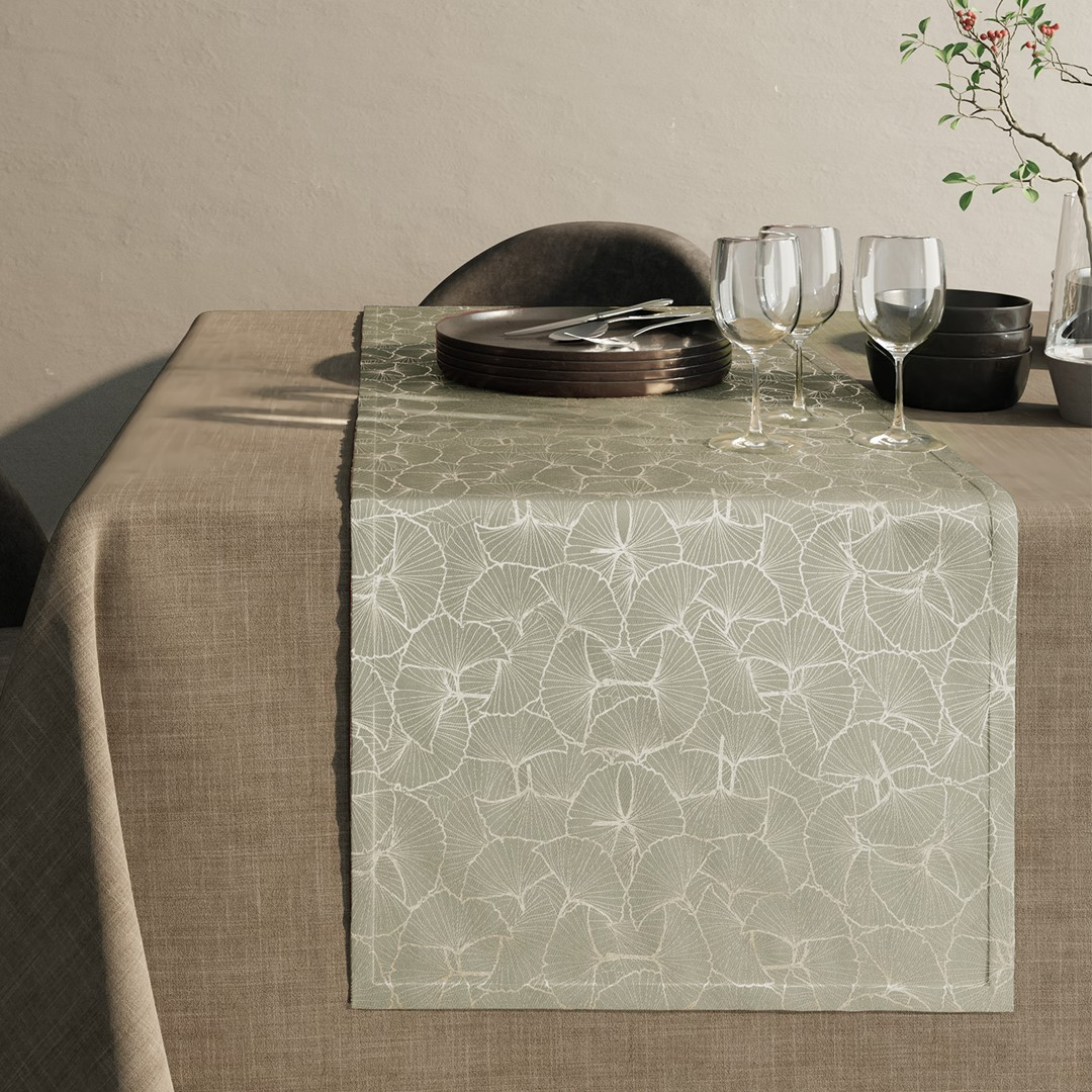 Ubrus - běhoun na stůl GINGER béžová 40x140 cm Mybesthome