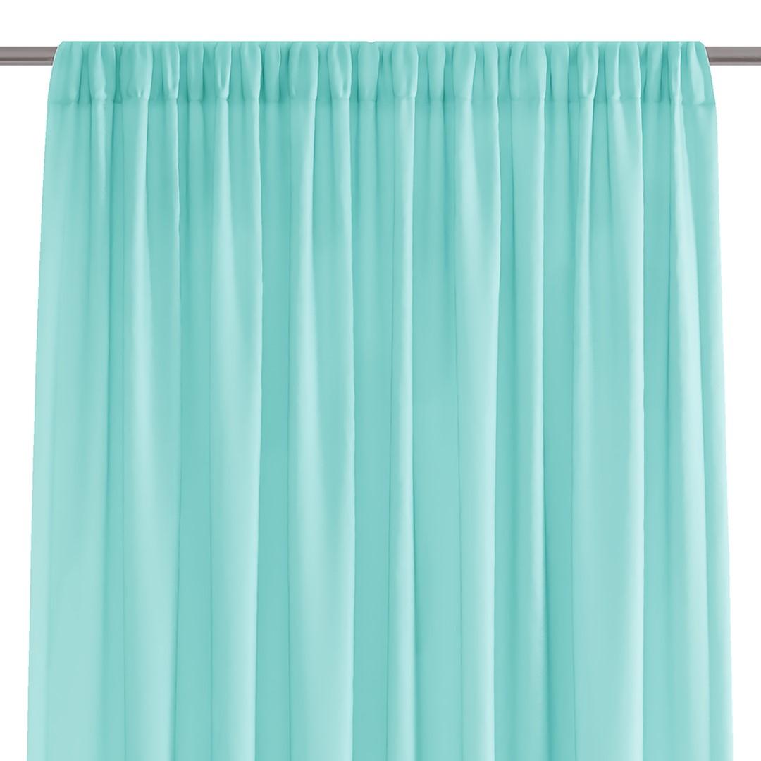 Dekorační krátká záclona s řasící páskou VILMA tyrkysová 250x160 cm nebo 300x160 cm MyBestHome Rozměr: 300x160 cm