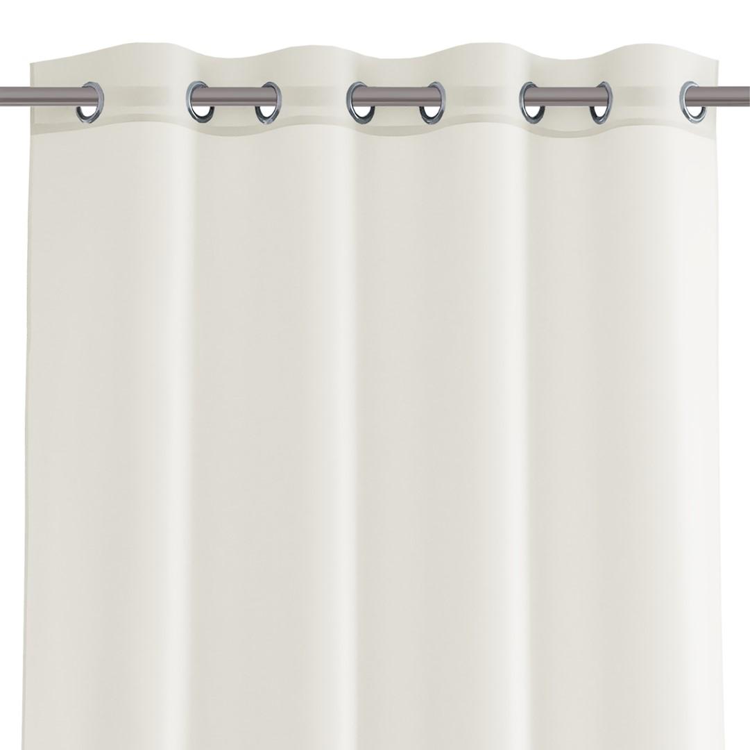Dekorační krátká záclona s kroužky VIKINA krémová 250x160 cm nebo 300x160 cm MyBestHome Rozměr: 300x160 cm