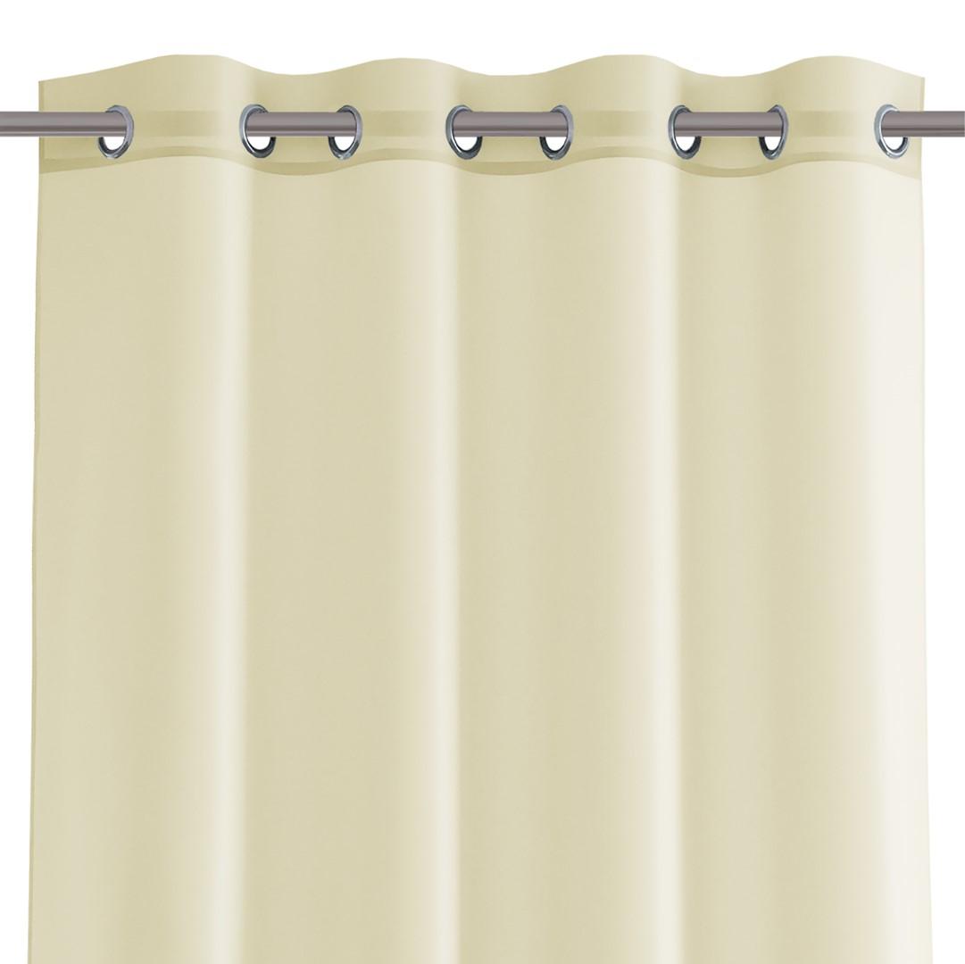 Dekorační krátká záclona s kroužky VIKINA smetanová 250x160 cm nebo 300x160 cm MyBestHome Rozměr: 300x160 cm